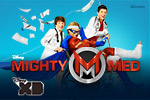 Join Kaz and Oliver in the fantastic world of Disney XD's Mighty Meds!  As the city's super heroes go down, you and the Mighty Meds must pick them up!