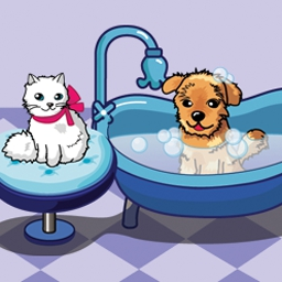 Doggie Dash - Help dirty dogs come clean while you customize the purrfect pet spa. - logo