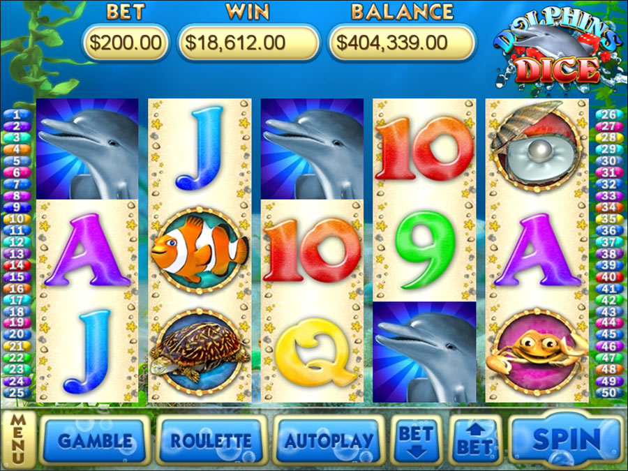 Dolphins Dice Slots screen shot