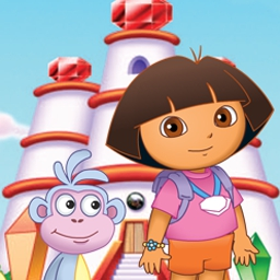 Dora Saves the Crystal Kingdom - Help Dora restore color to the world in Dora Saves the Crystal Kingdom! - logo
