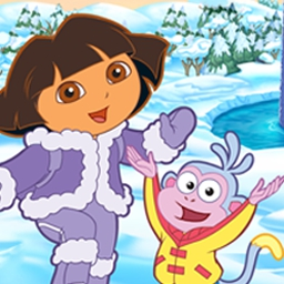 Dora Saves the Snow Princess - Learn with Dora the Explorer™ in Dora Saves the Snow Princess! - logo