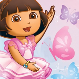 Dora's Ballet Adventures - In Dora's Ballet Adventures, Dora and Boots are preparing for their big dance performance. Help them find their slippers! - logo