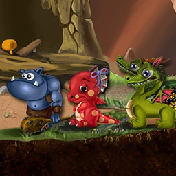 Dragon Keeper - The kingdom is cursed and your princess turned to stone!  To defeat the evil witch you must raise dragons in the simulation game Dragon Keeper. - logo