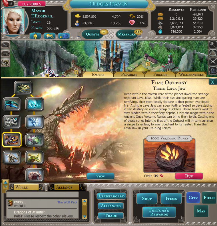 Dragons of Atlantis screen shot