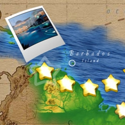 Dream Vacation Solitaire - Play solitaire from Bora-Bora to Barbados in Dream Vacation Solitaire. - logo