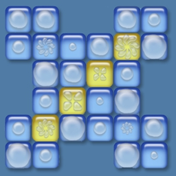 Dropz - Popping Dropz moves their water to neighboring Dropz, making this game a puzzle/strategy combo that's easy and addictive! - logo