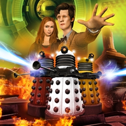 Dr. Who Episode 1: City of the Daleks - Dr. Who, Episode 1 is an adventure game in the style of the modern television series! Race to save our world in City of the Daleks. - logo