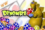 It's a Jurassic classic, so get ready for fast and furious egg-busting action in this prehistoric puzzler! Play Dynomite!™ today!