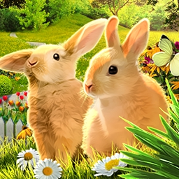 Easter Eggztravaganza 2 - Can't get enough Easter?  Enjoy Easter-themed hidden object scenes and puzzles in the egg- and bunny-filled Easter Eggztravaganza 2! - logo