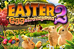 Can't get enough Easter?  Enjoy Easter-themed hidden object scenes and puzzles in the egg- and bunny-filled Easter Eggztravaganza 2!
