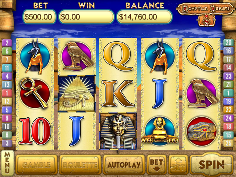 Egyptian Dreams 4 Slots screen shot