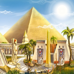 Egypt: Secret of Five Gods - Repair statues, feed the populace and save the day. Play Egypt: Secret of five Gods today! - logo