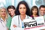 Hidden objects help you diagnose patients as Elizabeth Find, MD!