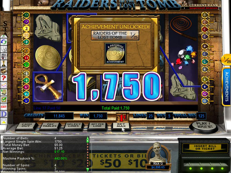 Epic Slots: Raiders of the Lost Tomb screen shot