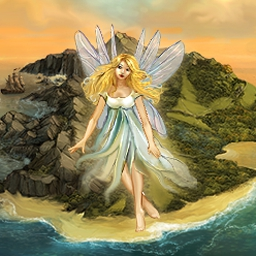Fairy Island - Pirates are threatening Fairy Island. Can you free the fairies before it's too late? Play Fairy Island today! - logo