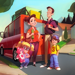 Family Vacation: California - Family Vacation: California is a fun Time Management game with lots of mini-puzzles. Help Barb and her family have a great vacation! - logo
