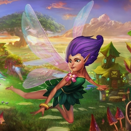 FantasyRama - Your personal enchanted gardens are here! In this farming simulation game, play with your friends online and breed mystical creatures today! - logo