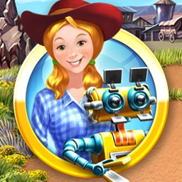 Farm Frenzy 3 - American Pie - Put robots to work on Scarlett's land in Farm Frenzy 3 - American Pie! - logo