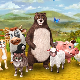Farm Frenzy 4 - Virtual farming has never been this much fun!  Save grandpa and grandma's farm from foreclosure in the wacky and wonderful Farm Frenzy 4! - logo