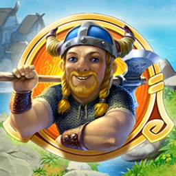 Farm Frenzy: Viking Heroes - Drop your axe and pick up your plow because there's farming to be done in Farm Frenzy: Viking Heroes!  Play through 172 whimsical levels. - logo