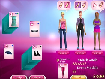 Fashion Solitaire screen shot