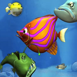 Feeding Frenzy - Rack up points in your Food Bank and swim into an ocean of fun! - logo