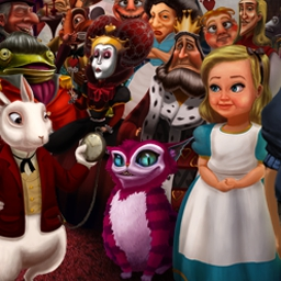Fiction Fixers Adventures in Wonderland - Fiction Fixers Premium Edition is a delightful, clever hidden object game! - logo