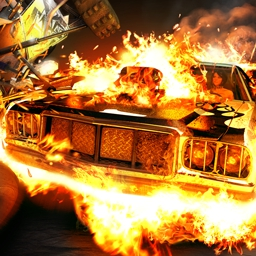Fireburst - Grab the wheel and burn rubber! In Fireburst, it is you against opponents on a dozen different tracks! Play Fireburst today! - logo