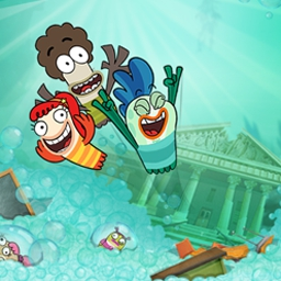 Fish Hooks: Soap N Swim - In Fish Hooks: Soap N Swim, Milo and Bea walk straight into a soapy school. Go for a swim with them in this soapy adventure! - logo
