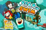 In Fish Hooks: Soap N Swim, Milo and Bea walk straight into a soapy school. Go for a swim with them in this soapy adventure!