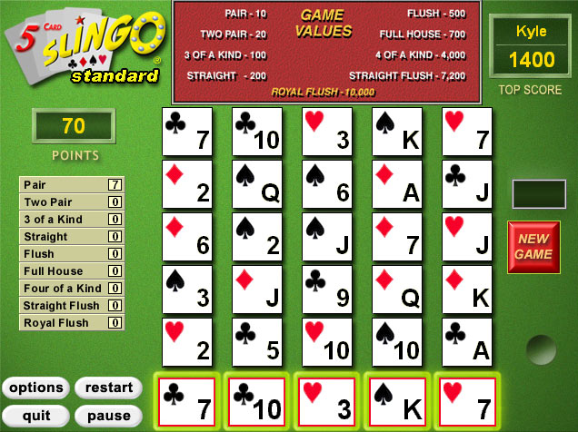 5 Card Slingo screen shot