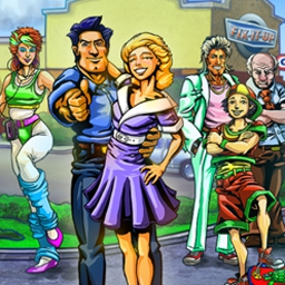Fix-it-up 80's: Meet Kate's Parents - Take on 52 levels in Fix-it-up 80s, a mix of time management and sim! - logo