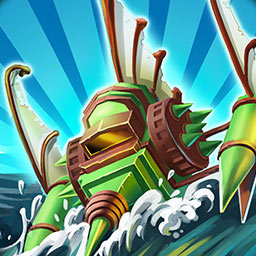 Fort Defenders: Seven Seas - Build towers, cast spells, collect barrels of rum and win! Will you be victorious in Fort Defenders Seven Seas? - logo