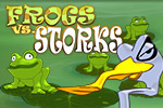 Leap across lily pads to survive! Frogs vs. Storks is a fun strategy-puzzle game for all ages. Play today!