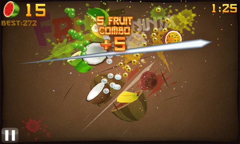 Fruit ninja hd screen shot