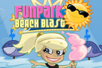 Work with roller coaster hills, twists, and loops in FunPark Beach Blast!