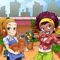Garden Dash - Help Barb find relief from her high-stress job by transforming urban lots into thriving gardens. Play Garden Dash now! - logo