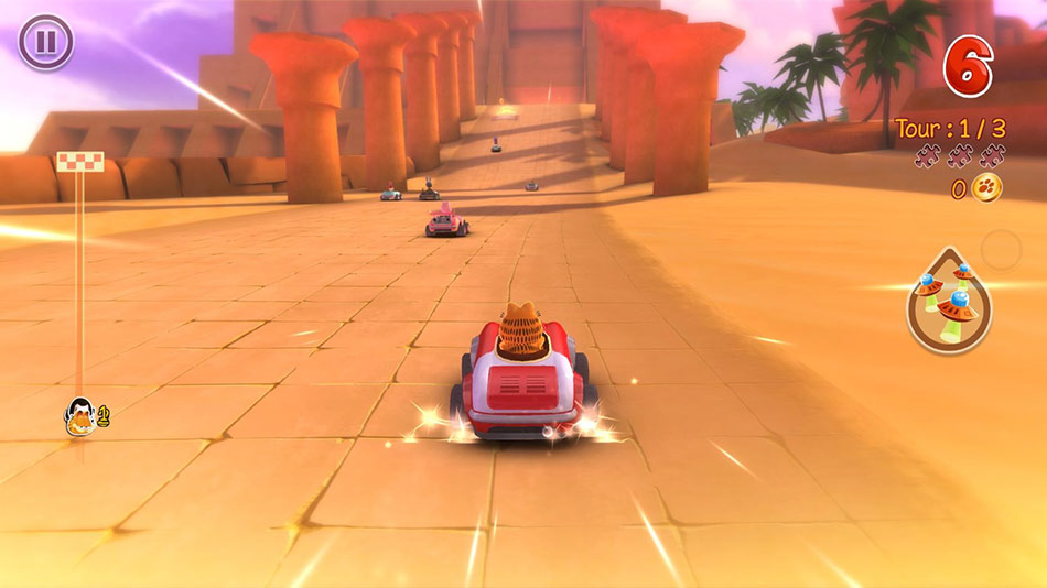 Garfield Kart screen shot
