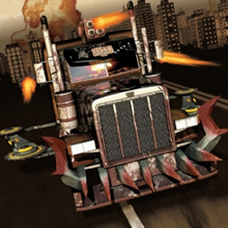 Gear Grinder - Enjoy fully motorized mayhem in Gear Grinder, an action-packed racing game. - logo
