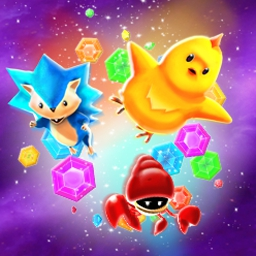"Gem Smashers - Gem Smashers is a fun match-3 puzzle game with action sequences and eight ""boss"" fights to finish! - logo"
