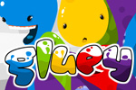 The blobs are trapped and you must free them!  Combine blobs and make them disappear by clicking in the fun puzzle game Gluey.