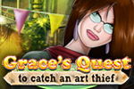 Use clues to stop a gang of crooks in Grace's Quest: To Catch An Art Thief!