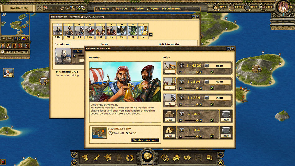 Grepolis screen shot