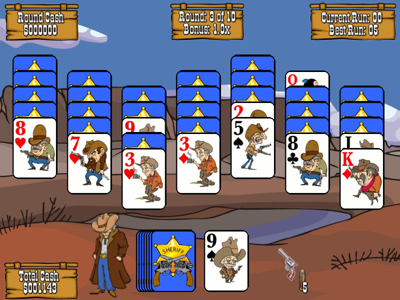 Gunslinger Solitaire screen shot