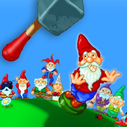 Hammer Heads Deluxe - Defeat the gnomes and restore balance to your backyard. - logo