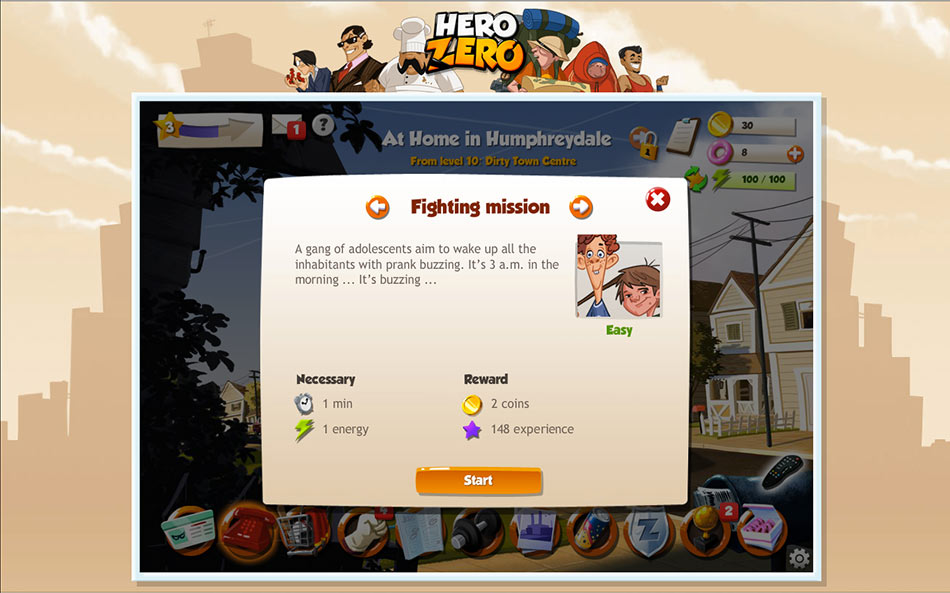 Hero Zero screen shot