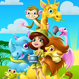 Hot Farm Africa - Getting tired of milking cows and harvesting carrots? Explore the world of a safari park owner! Play Hot Farm Africa today! - logo