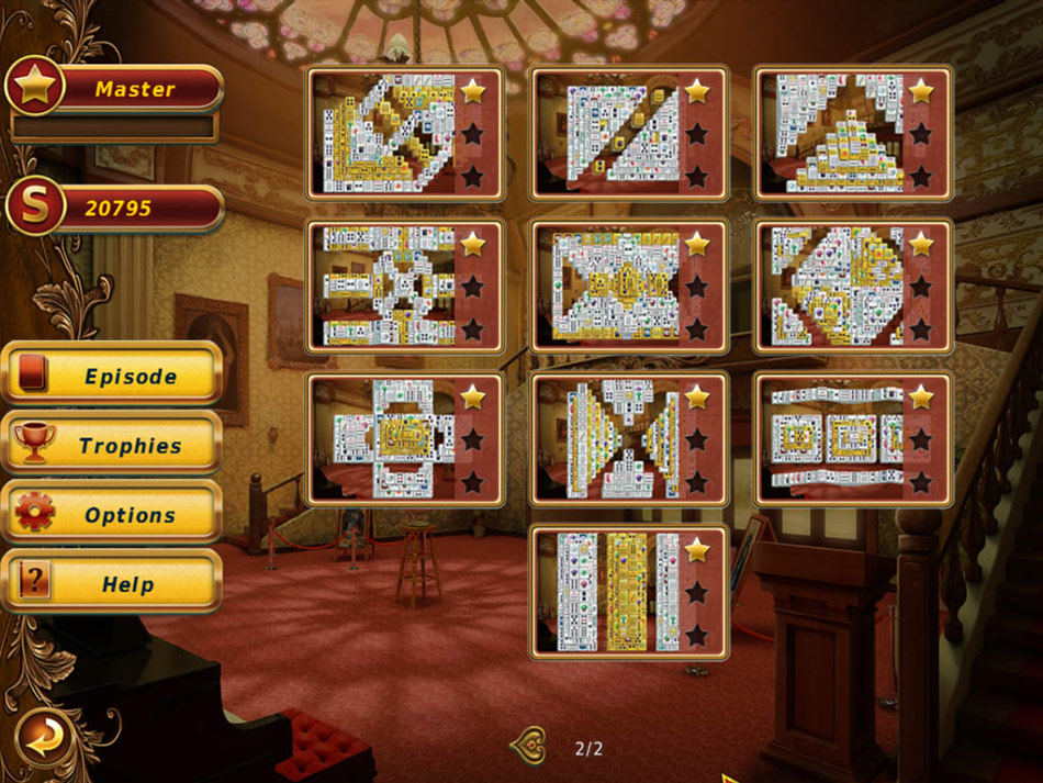 Hoyle Illusions Mahjongg screen shot