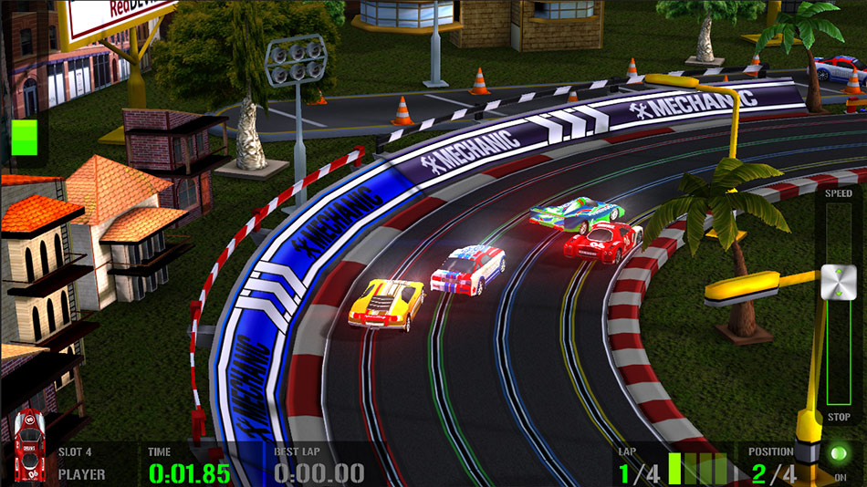 HTR+ Slot Car Simulation screen shot