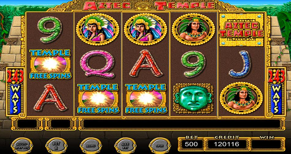 IGT Slots Aztec Temple screen shot